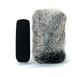 13cm Furry MIC Windshield Windscreen Compatible for For sony ECM-XM1 CG1 NV1 PS1 HVR HD1000U HXR-MC2000E MC2500 XLR-A2M K1M K2M CG50BP Audio-Technica AT875R Camcorder Microphone