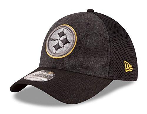 New Era Pittsburgh Steelers NFL 39THIRTY Heathered Black Neo Flex Fit Hat