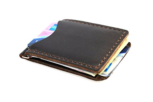 Rustico Handmade - Leather Money Clip, Dark (Le Rustica Kitchen)