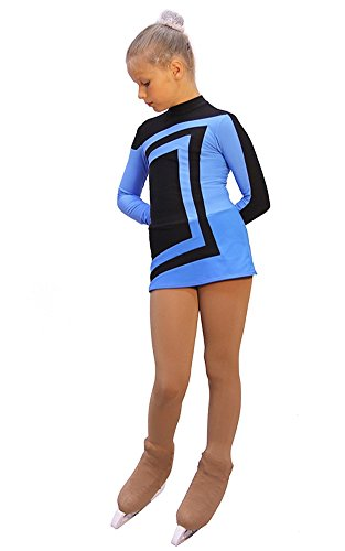 IceDress - Figure Skating Dress - Avangard (Black with Blue)(AL) by IceDress