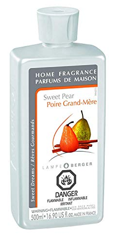 (Sweet Pear | Lampe Berger Fragrance Refill by Maison Berger | for Home Fragrance Oil Diffuser | Purifying and perfuming Your Home | 16.9 Fluid Ounces - 500 milliliters | Made in France)