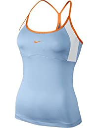 Womens Strappy Knit Tank Top (Blue/White/Bright Citrus)