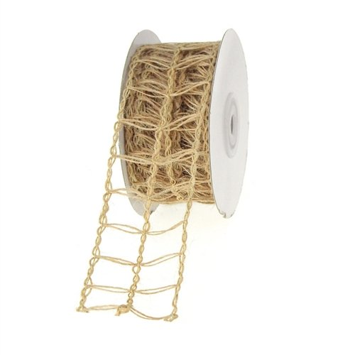 Homeford FKT0RSJS3812 Braided Net Jute Mesh 10 yd Ribbon, 1-1/2 (Spin Net)