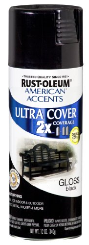 - Rust-Oleum 269473 American Accents Ultra Cover, 12 oz, Gloss Black