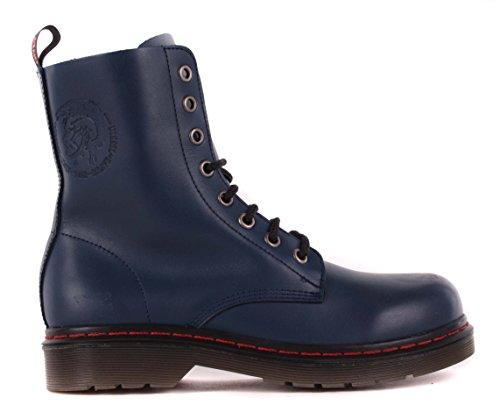 Diesel para mujer Botas de piel botas azul #43