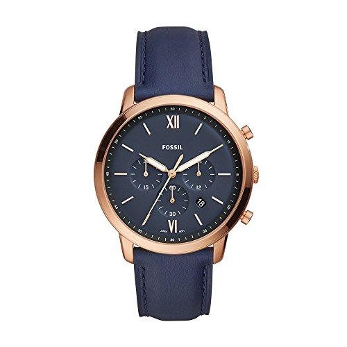 (Fossil Men's FS5454 Neutra Chrono Analog Display Analog Quartz Blue Watch)
