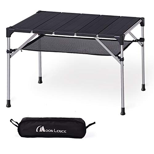 (MOON LENCE Lightweight Portable Camping Table Compact Outdoor Aluminum Folding Table for Picnic Climbing ...)