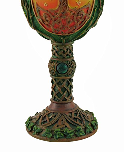 Resin Goblets Tree Of Life Celtic Knotwork Chalice W/Stainless Steel Insert 3.75 X 7.5 X 3.75 Inches Multicolored by Zeckos (Image #2)