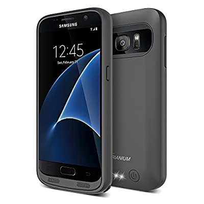 Galaxy S7 Battery Case, Trianium Atomic S Pro Charging Battery Pack for Samsung Galaxy S7 - 4500mAh Extended Battery Fast Charger [Quick Charge Compatible] Protective Case Power Pack Juice Bank