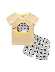Captain Meow Boys' Short Sleeve Clothing Set T-shirt And Short Pants Snails