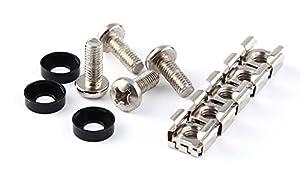 Lengthened 16mm - 20 Pack Rack Mount Screws & Cage Nuts for Server Shelves Cabinets M6