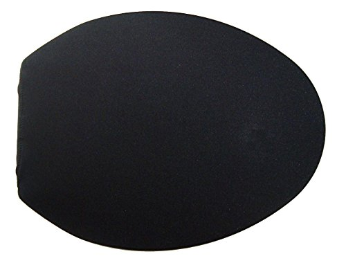 Spandex Fabric Cover for a lid Toilet SEAT fits on Round & Elongated Models - Handmade in USA (Black)