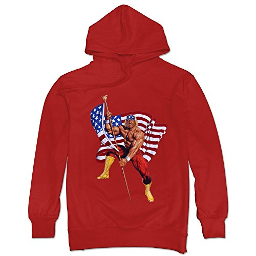 Price comparison product image Funny Hulk Hogan Old Glory Men's Hoodie Sweater Red Size M