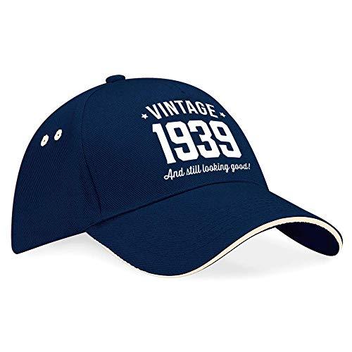 80th Birthday 1939 Baseball Cap Hat Gift Idea Present keepsake for Women Men -