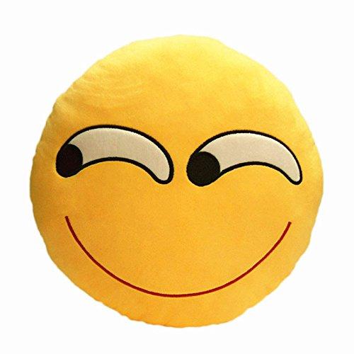 Coussin Oreiller Emoticône Emoji Rond en Peluche Souple (Cool) Générique