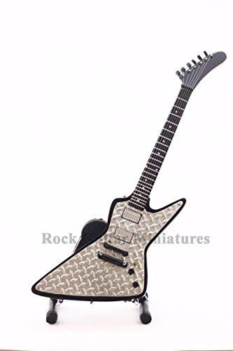 RGM96 James Hetfield Diamond Plate Explorer Metallica Miniature Guitar (Diamond Guitar Plate)