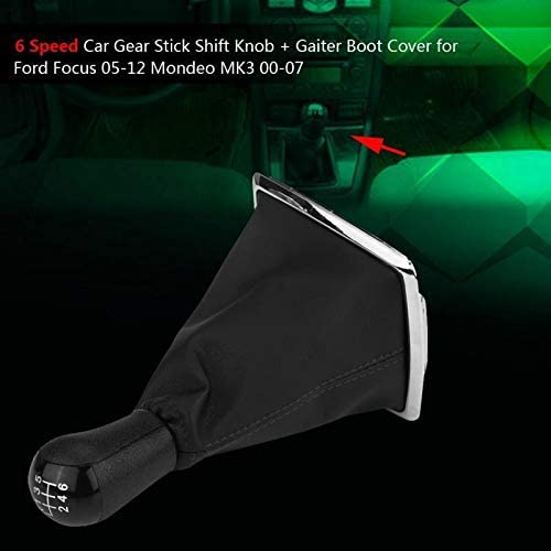 Shift button 6 Speed Gear Stick Shift Knob Gaiter Boot Cover Fit For Ford Focus 05-12 Fit For Mondeo MK3 00-07 Car Accessories