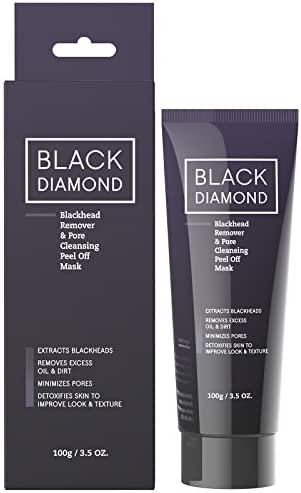 Charcoal Blackhead Remover - Best Blackhead Remover Mud Mask with Witch Hazel, Black Mask with Activated Charcoal that Effectively Removes Blackheads, Best Acne Treatment - Blackhead Peel by Mia Adora