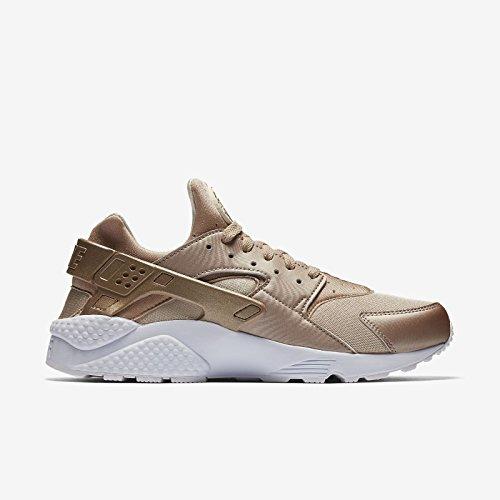 Corrida Nike Air Huarache Running / Hoja Dorada / Blanco Sz 10.5 [704830 900] Hombres
