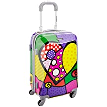 ROCKLAND F151-HEART 20-Inch Polycarbonate Carry-On, Heart, One Size