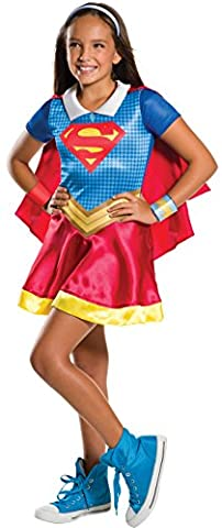 Rubie's Costume Kids DC Superhero Girls Supergirl Costume, Medium (Super-kostüme Für Mädchen)