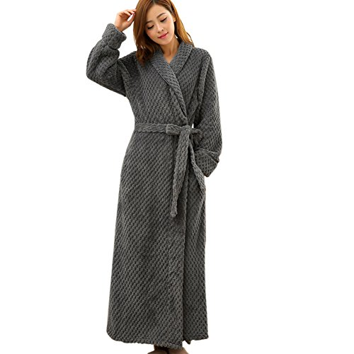 Hellomamma Womens Collar Microfiber Bathrobe