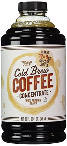 Distributor Joe's Cold Brew Coffee Concentrate 100% Arabica Beans. 32fl. Oz