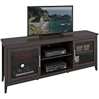 CorLiving Jackson TV Bench for TVs, Up to 80', Espresso Brown
