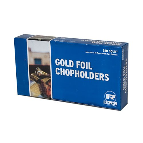 Royal Gold Foil Chopholders, Package of 250