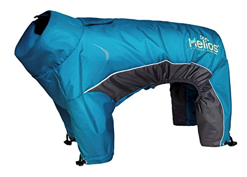 DOGHELIOS 'Blizzard' Full-Bodied Comfort-Fitted Adjustable and 3M Reflective Winter Insulated Pet Dog Coat Jacket w/ Blackshark Technology, Medium, Blue by DogHelios