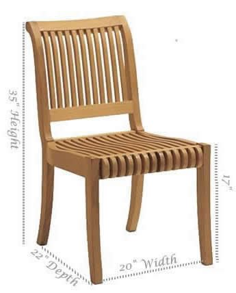 Etonnant TeakStation Giva Grade A Teak Wood Armless Dining Chair #TSDCALGV