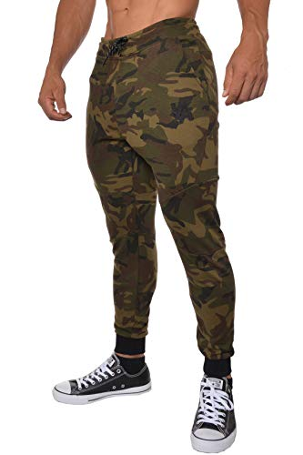 YoungLA French Terry Cotton Sweatpants Jogger Pants Camouflage Green Medium