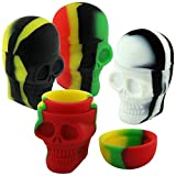 15ml Skull Shaped Heat/Cold Resistant Assorted Color Silicone Jar (50 Jars)
