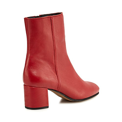 Mid Jasper Womens Leather Red Boots 'Janey' Debenhams Ankle Conran J SqwT1T
