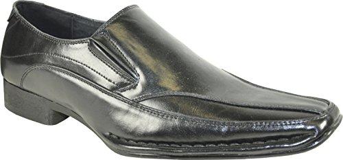 Coronado Män Loafer Dress Shoe Marino-6 Modepunkt Tå Med Läderfoder Svart