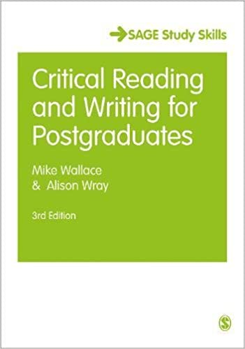 Amazoncom Critical Reading And Writing For Postgraduates Sage  Amazoncom Critical Reading And Writing For Postgraduates Sage Study  Skills Series  Mike Wallace Alison Wray Books