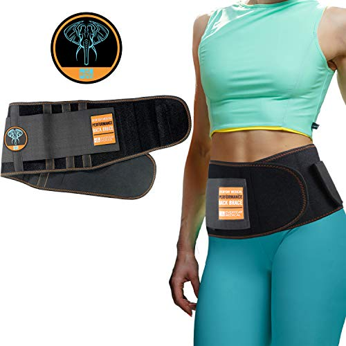 Lumbar Support Belt I Lower Back Brace by Everyday Medical I Targeted Lower Back Pain Relief for Back Spasms, Sciatica, Weight Lifting Waist Gym Belt for Sports I for Men and Women I Large/XLarge