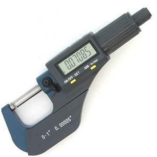 Digital Electronic Outside Micrometer High Precision 0-1''/0.00005'' X-Large LCD