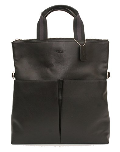 - Coach Foldover Tote In Smooth Leather