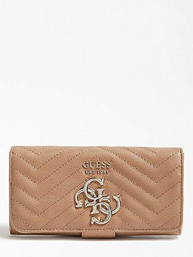 GUESS - Violet Slg File Clutch, Carteras Mujer, Marrón (Tan ...