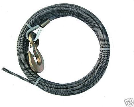 BA Products 4-38SC200 Winch Cable Ships in 1 to 2 Business Days 3//8 x 200 Steel Core with 3 Ton Hook