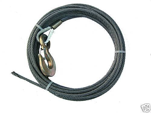 BA Products 4-716SC125 Winch Cable, 7/16' x 125' Steel Core with 3 Ton Hook 7/16 x 125' Steel Core with 3 Ton Hook