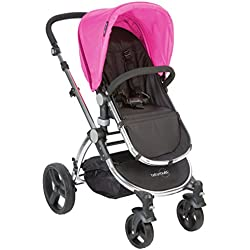 Babyroues Letour Classic Stroller, Pink/Frosted Silver Frame