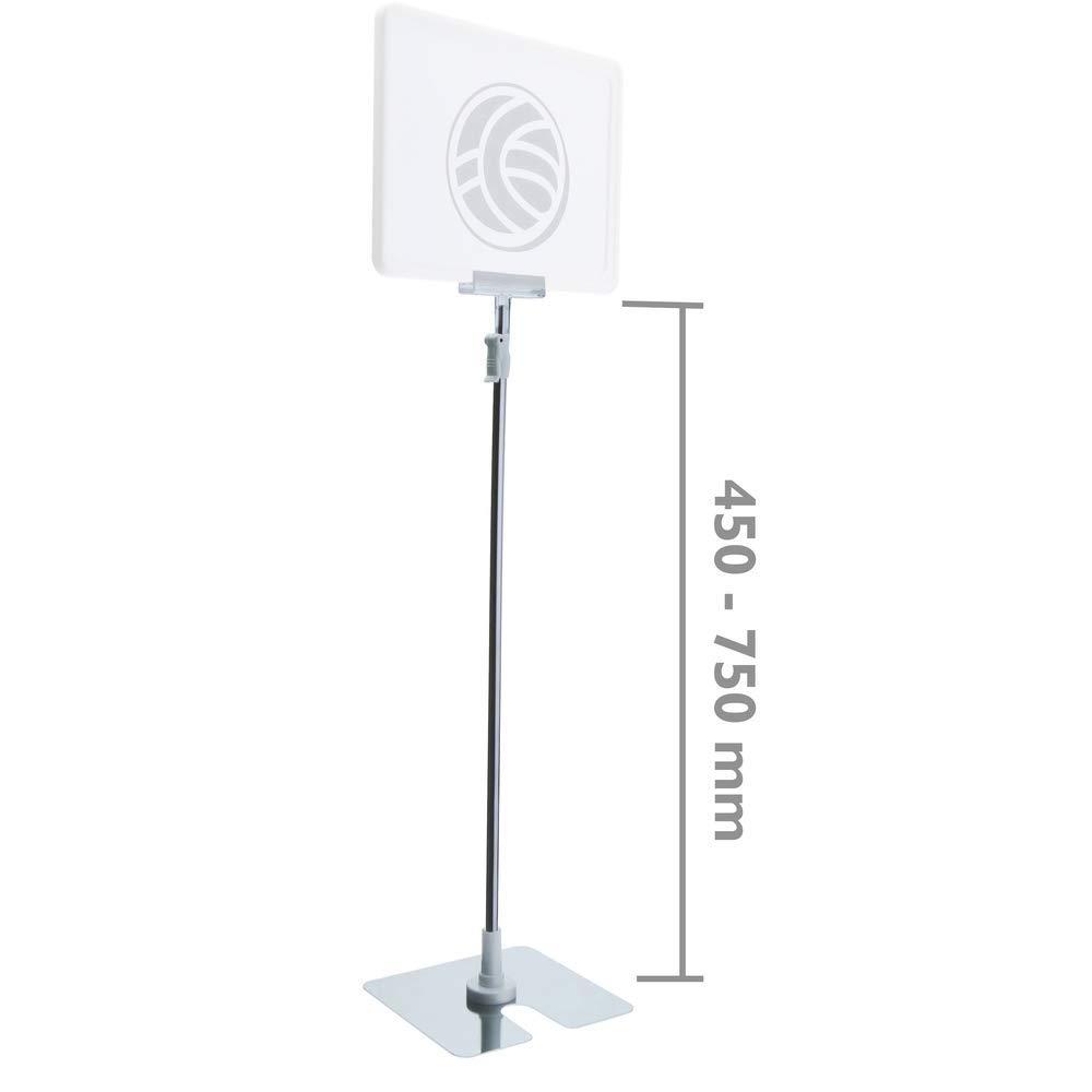 PrimeMatik - Soporte con peana para rótulo 450 a 750 mm