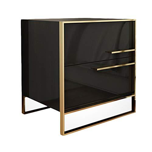 DYFYMXMesa Auxiliar Gabinete de almacenaje de cabecera Simple, pequeño, Moderno, de Lado (Color : Negro)
