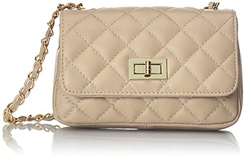 In Bag Italian Women 19x13x6cm Clutch Made 100 Classic Beige Quilted Italy Leather Genuine Ctm Purse df7qwIYY