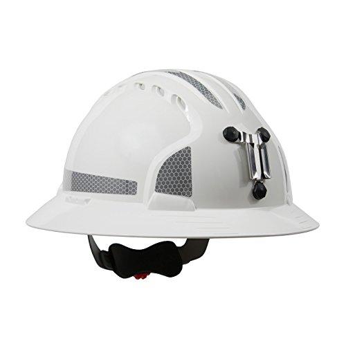 JSP 280-EV6161MCR2-10 Evolution Deluxe 6161 Full Brim Mining Hard Hat with CR2 Reflective -