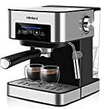 ELEHOT Espresso Coffee Makers Machine with Mike Frother and 15 Bar Pump 850W Stainless Steel