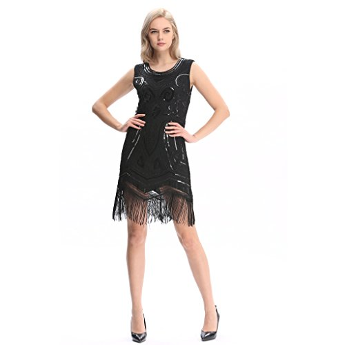 cb2fd632fad9f Pilot-Trade 20s Flapper Gatsby Charleston Sequin Bead Evening Cocktail Prom  Dress