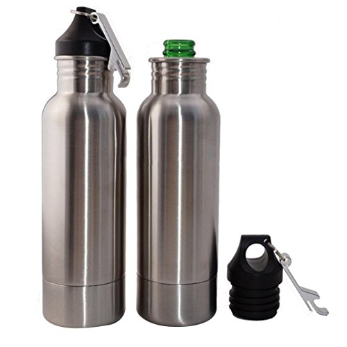 Stainless Steel Bottle 12oz Beer Glass Cooler With Bottle Openers Vacuum Cap Durable by Dreamyth